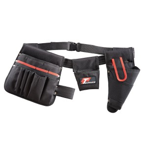 Technics 15 Pocket Tool Belt With Drill Holster & Pouches