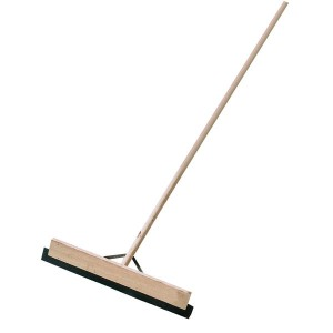 Rubber Blade Stayed Handle Wooden Squeegee 600mm