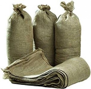 Hessian Sand Bags 750 x 325mm with Ring Ties Flood Protection Sacks (Various Quantities)