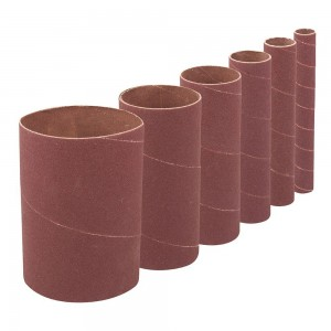 Silverline 90mm Drum & Bobbin Sanding Sleeves Set 6 Piece