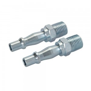Silverline Air Line Bayonet Male Thread Coupler Pack of 2