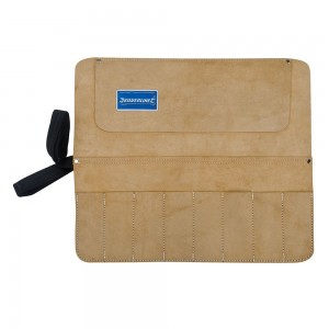 Silverline Chisel & Tool Storage Roll 8 Pocket Suede Leather 440x380mm