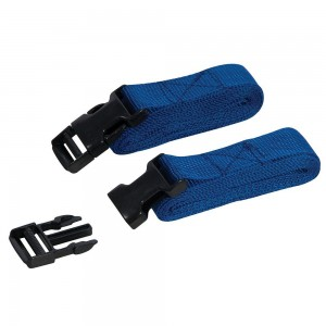Silverline Clip Buckle Straps 2m x 25mm Pack of 2