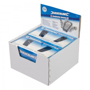 Silverline Display Box of 6 x Combination Spanner Sets 8-Piece (8-19mm)