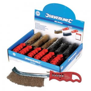 Silverline Display Box of Steel Wire Brushes 24 Piece