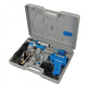 Silverline Electric Soldering Gun & Iron Kit 9 Piece