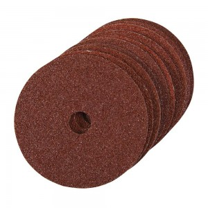 Silverline Fibre Backed Sanding Discs 100x16mm Pack of 10 ( Various Grits)