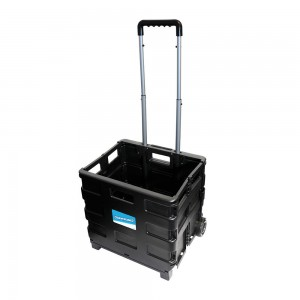 Silverline Folding Storage Box Trolley 25kg