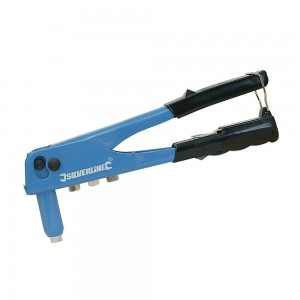 Silverline Hand Riveter with Nozzles (2.4 - 4.8mm)