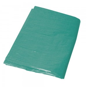 Silverline Heavy Duty Green Tarpaulin Waterproof & Tear-Proof