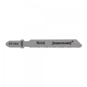 Silverline Jigsaw Blades for Metal Pack of 5 - Straight Fine Cut - ST118A