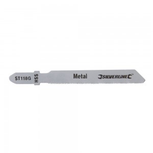 Silverline Jigsaw Blades for Metal Pack of 5 - Straight Fine Cut - ST118G