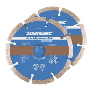 Silverline Mortar Raking Diamond Blade 115 x 22.23mm