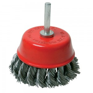 Silverline Rotary Steel Twist-Knot Cup Brush 75mm