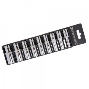 Silverline Socket Set 3/8in Drive Deep Metric 9 Piece (8-19mm)