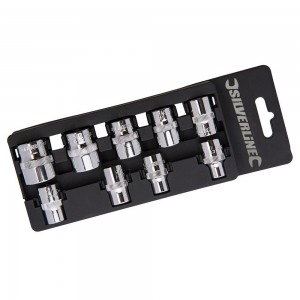 Silverline Socket Set 3/8in Drive Imperial 9 Piece (1/4 - 3/4in)