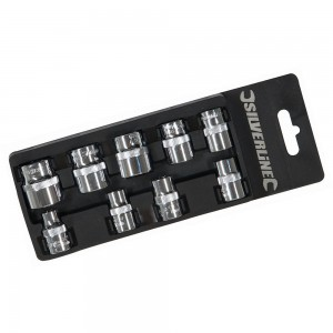 Silverline Socket Set 3/8in Drive Metric 9 Piece (8-19mm)