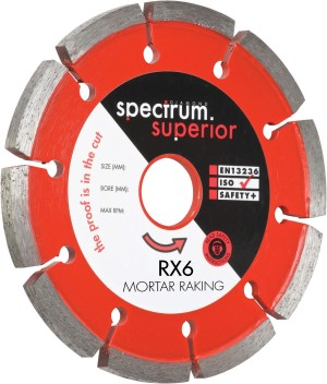 Spectrum RX6 Mortar Raking Diamond Blades (Sizes 115-180mm)