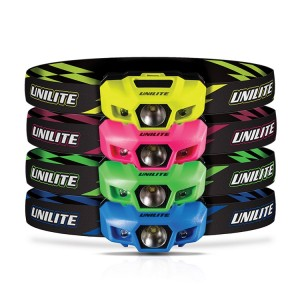 Unilite LED Neon Sports Head Torch 175 Lumens (Pink, Yellow, Blue or Green)