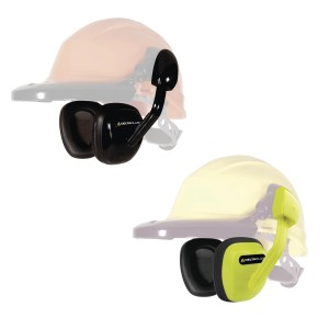 Delta Plus SUZUKA Clip On Safety Ear Muffs / Defenders (Yellow or Black) Hard Hat Compatible SNR 27 dB