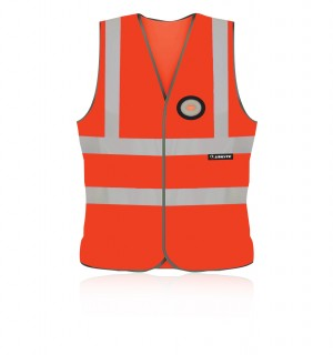 Unilite Hi-Vis Safety Waistcoat Orange with LED Light (Sizes L-XXL)