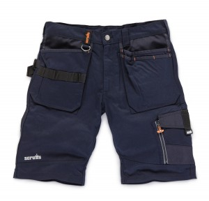 Scruffs Trade Work Shorts Ink Blue with Multiple Pockets (Various Sizes)