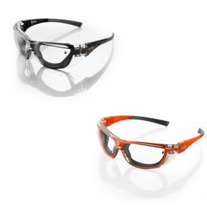 Scruffs Falcon Safety Spectacles with Anti-Fog & UV Protection (Black or Orange)