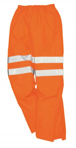 Thor Hi-Vis Orange Waterproof  Breathable Work Overtrousers - Rail Certified HVTRB01 (Sizes S-XXXL)