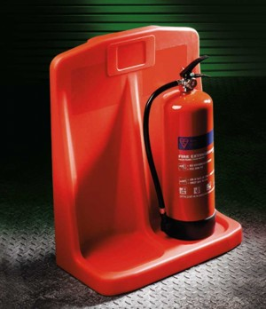 Tough Moulded Eco Friendly Plastic Fire Extinguisher Stand (Various Sizes)