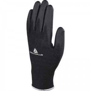 Delta Plus VE702PN Safety Gloves Black High-Tech PU (Various Sizes)