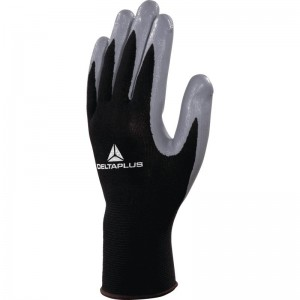 Delta Plus VE712 Safety Gloves Black / Grey Polyester (Various Sizes)