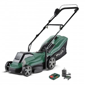 Handy Webb 33cm (13in) Cordless 20v Rotary Lawnmower with 4Ah Battery & Charge