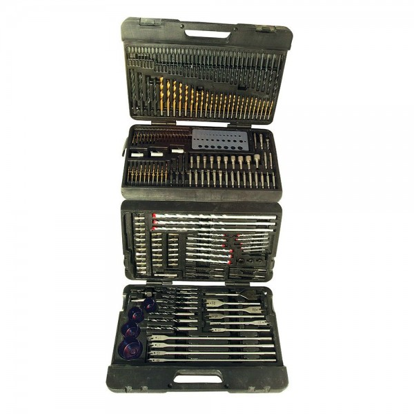 Silverline Assorted Drill Bit Set 204 Piece - Father's Day Gifts Under £50