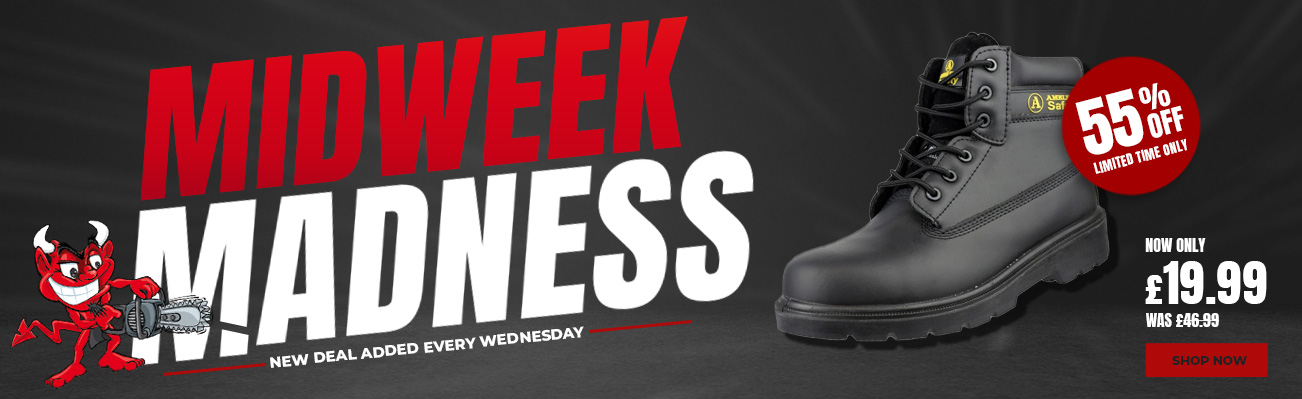 MidWeek Madness - Amblers FS12C Safety Boots 55% off