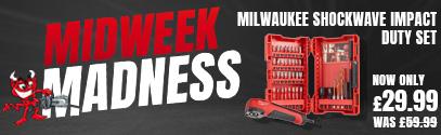 Midweek Madness - Save 50% on Milwaukee Shockwave Impact Bit Set 40 Piece